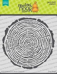 Newton's Nook - 6x6 Stencil - Tree Rings