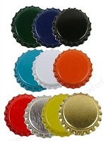 Paper Accents Bottle Caps - Assorted (10 per package)