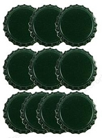Paper Accents Bottle Caps - Dark Green (10 per package)