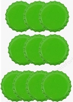 Paper Accents Bottle Caps - Lime (10 per package)