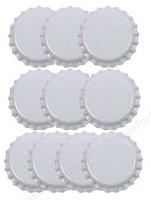 Paper Accents Bottle Caps - White (10 per package)