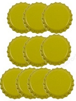 Paper Accents Bottle Caps - Yellow (10 per package)