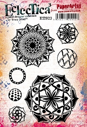Paper Artsy - Eclectica Cling Mounted Rubber Stamps - Tracy Scott Set 23