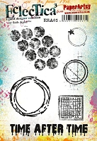 Paper Artsy - Eclectica Cling Mounted Rubber Stamps - Seth Apter Set 01