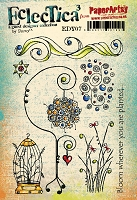 Paper Artsy - Eclectica Cling Mounted Rubber Stamps - Darcy Set 07