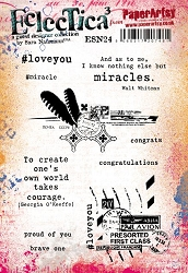Paper Artsy - Eclectica Cling Mounted Rubber Stamps - Sara Naumann 24