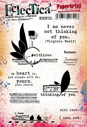 Paper Artsy - Eclectica Cling Mounted Rubber Stamps - Sara Naumann 25