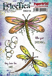 Paper Artsy - Eclectica Cling Mounted Rubber Stamps - Kay Carley 24