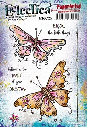 Paper Artsy - Eclectica Cling Mounted Rubber Stamps - Kay Carley 25