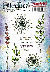 Paper Artsy - Eclectica Cling Mounted Rubber Stamps - Kay Carley 26