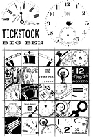 Paper Artsy - Cling Mounted Rubber Stamp Set - Ink and the Dog Clocks 2