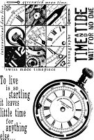Paper Artsy - Cling Mounted Rubber Stamp Set - Ink and the Dog Clocks 3