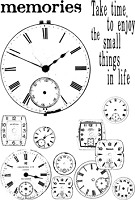 Paper Artsy - Cling Mounted Rubber Stamp Set - Ink and the Dog Clocks 4
