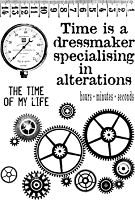 Paper Artsy - Cling Mounted Rubber Stamp Set - Ink and the Dog Clocks 5