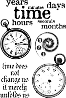 Paper Artsy - Cling Mounted Rubber Stamp Set - Ink and the Dog Clocks 6