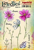 Paper Artsy - Eclectica Cling Mounted Rubber Stamps - Kay Carley Set 01