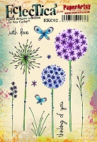 Paper Artsy - Eclectica Cling Mounted Rubber Stamps - Kay Carley Set 02