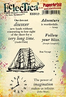 Paper Artsy - Eclectica Cling Mounted Rubber Stamps - Sara Naumann Set 19