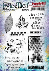 Paper Artsy - Eclectica Cling Mounted Rubber Stamps - Lin Brown 31