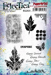 Paper Artsy - Eclectica Cling Mounted Rubber Stamps - Lin Brown 32