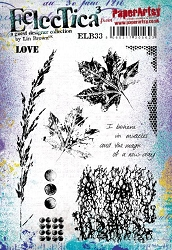 Paper Artsy - Eclectica Cling Mounted Rubber Stamps - Lin Brown 33