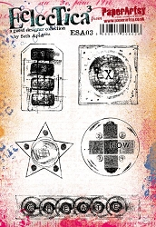 Paper Artsy - Eclectica Cling Mounted Rubber Stamps - Seth Apter Set 03