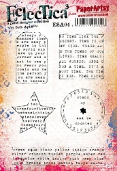 Paper Artsy - Eclectica Cling Mounted Rubber Stamps - Seth Apter Set 04