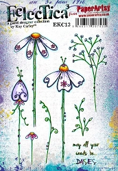Paper Artsy - Eclectica Cling Mounted Rubber Stamps - Kay Carley 13
