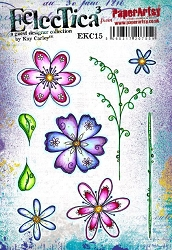 Paper Artsy - Eclectica Cling Mounted Rubber Stamps - Kay Carley 15