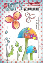 Paper Artsy - JOFY Cling Mounted Rubber Stamps - Large set 61