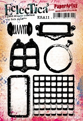 Paper Artsy - Eclectica Cling Mounted Rubber Stamps - Seth Apter Set 11