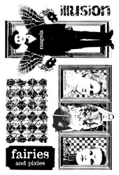 Paper Artsy - Cling Mounted Rubber Stamp Sets - Mystery 1