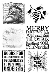Paper Artsy - Cling Mounted Rubber Stamp Sets - Noel 2