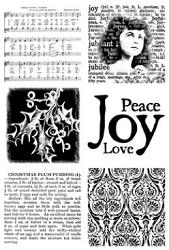 Paper Artsy - Cling Mounted Rubber Stamp Sets - Xmas 1