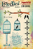 Paper Artsy - Eclectica Cling Mounted Rubber Stamps - Lin Brown Set 21