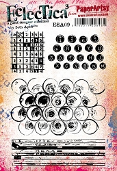 Paper Artsy - Eclectica Cling Mounted Rubber Stamps - Seth Apter Set 09