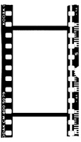 Paper Artsy - Hot Picks Cling Mounted Rubber Stamps - Ink & The Dog Mini Collection - Mini 87 (Filmstrip)
