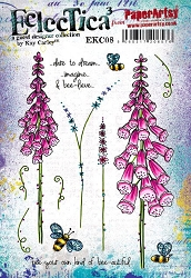 Paper Artsy - Eclectica Cling Mounted Rubber Stamps - Kay Carley Set 08