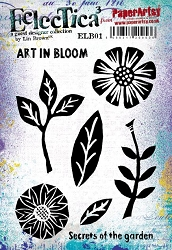 Paper Artsy - Eclectica Cling Mounted Rubber Stamps - Lin Brown 01