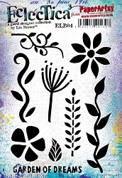 Paper Artsy - Eclectica Cling Mounted Rubber Stamps - Lin Brown 04
