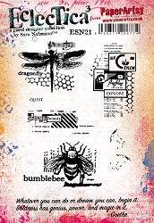 Paper Artsy - Eclectica Cling Mounted Rubber Stamps - Sara Naumann Set 21