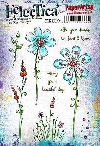 Paper Artsy - Eclectica Cling Mounted Rubber Stamps - Kay Carley 19