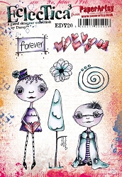 Paper Artsy - Eclectica Cling Mounted Rubber Stamps - Darcy Set 20