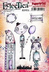 Paper Artsy - Eclectica Cling Mounted Rubber Stamps - Darcy Set 21