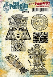 Paper Artsy - Lynne Perrella Cling Mounted Rubber Stamp Set 040