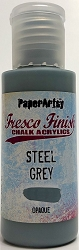 Paper Artsy - Fresco Finish Acrylic Paints - Steel Grey (opaque)