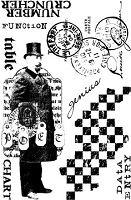 Paper Artsy - Cling Mounted Rubber Stamp Set - Man of Numbers Plate 2