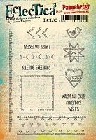 Paper Artsy - Eclectica Cling Mounted Rubber Stamps - Clare Lloyd Set 02