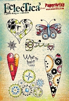 Paper Artsy - Eclectica Cling Mounted Rubber Stamps - Darcy Set 02
