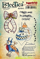 Paper Artsy - Eclectica Cling Mounted Rubber Stamps - Darcy Set 03